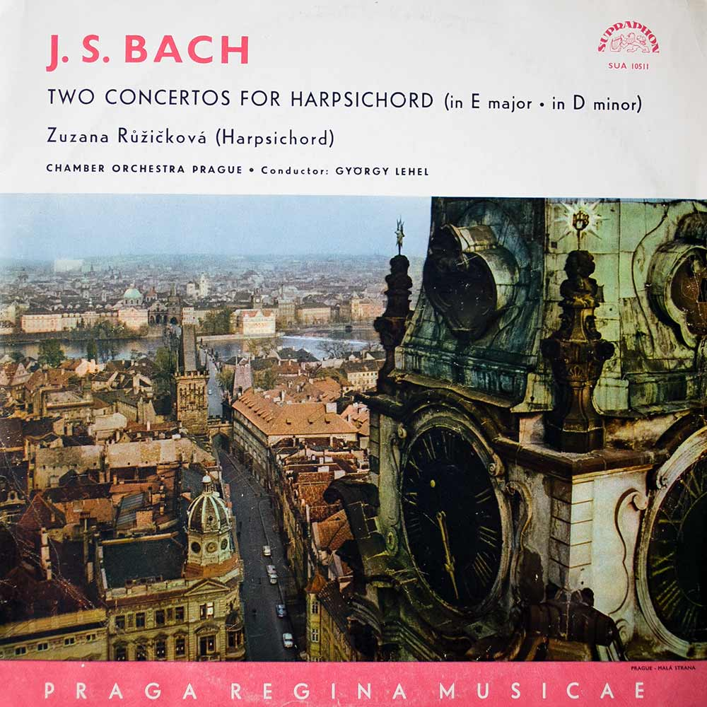 Виниловая пластинка Bach ‎- Two Concertos For Harpsichord (In E Major • In D Minor)